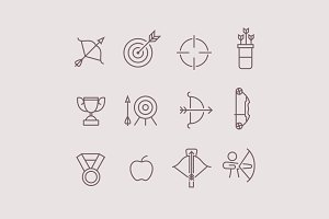 12 Archery Icons