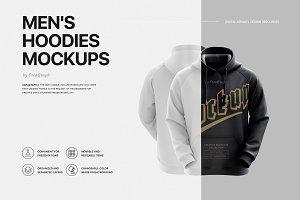 Men's Hoodie Mockup Set