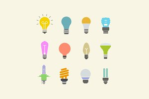 12 Light Bulb Icons