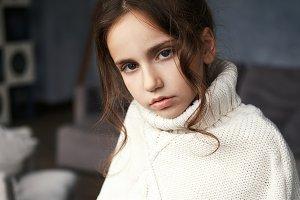 Portrait of adorable teenage girl