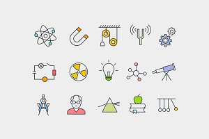 15 Physics Concept Icons