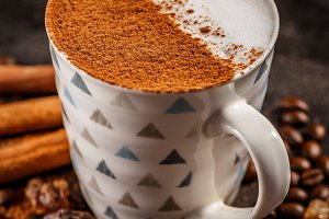 Winter warm spice coffee