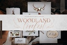 Woodland Lovefest - Boho Design Set by  in Illustrations