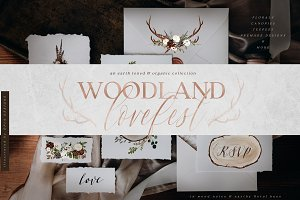 Woodland Lovefest - Boho Design Set