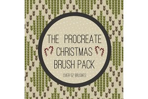 The Procreate Christmas Brush pack