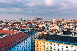 View over the historic city vienna
