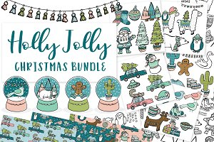 Holly Jolly Christmas Clipart Bundle