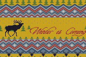 Winter is Coming. Christmas pattern