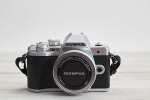 Olympus M10 mark iii body on white w