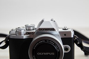 Olympus M10 mark iii body on white w