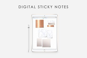 GoodNotes Stickers Marble - Copper