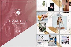 Camilla Instagram Puzzle Template