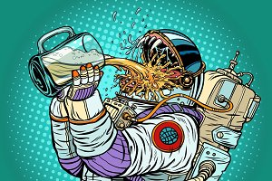 Astronaut mutant, thirst for beer