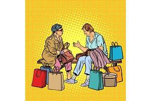 Older women girlfriends shopping