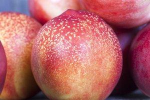 ripe red peaches