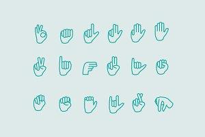 18 Sign Language Icons