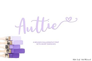 Auttie Script w/ Heart Swashes