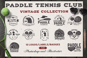 Paddle Tennis Club Logos/Badges