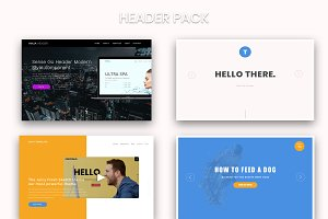 Web Design Header Pack In Sketch