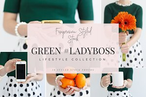 Green #Ladyboss Styled Stock Photos