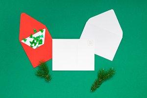 Christmas greetings letter mockup