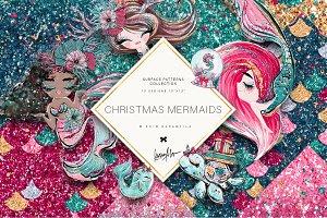 Christmas Mermaids Glitter Textures