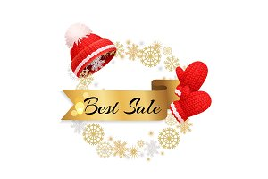 Best Winter Sale Offer Poster Warm