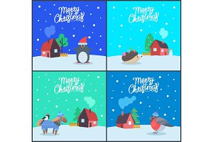 Merry Christmas Greeting Cards with