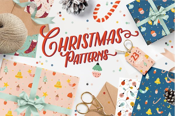 Illustrations and Illustration Products: Ruslana Vasiukova - Holiday Christmas Patterns