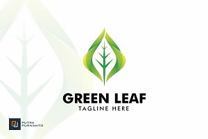 Green Leaf - Logo Template