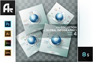 Set of 4 Global Templates