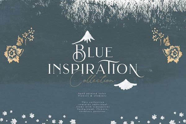 Illustrations and Illustration Products: Julia Dreams - Blue Inspiration Collection