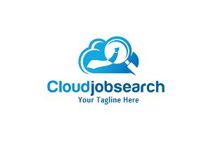 Cloud Job Search Logo Template