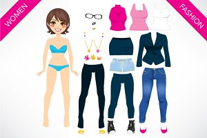 Cute Paper Doll Game
