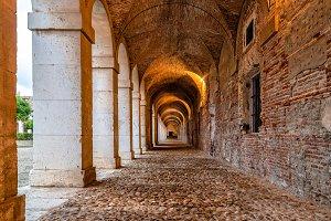 Arcade in Royal Palace of Aranjuez