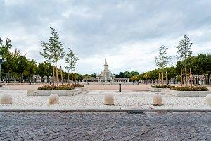 Scenic view of Mariblanca Square in