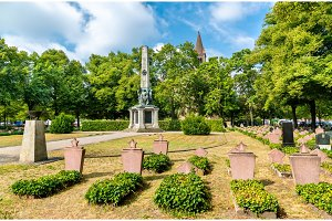 Soviet military memorial cemetery in
