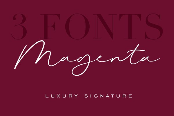 Magenta - 3 Luxury Signature Font