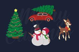 christmas ornamets illustration