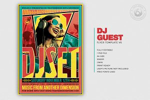 DJ Guest Flyer Template V6