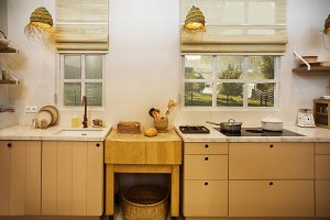wooden kitchen in country style