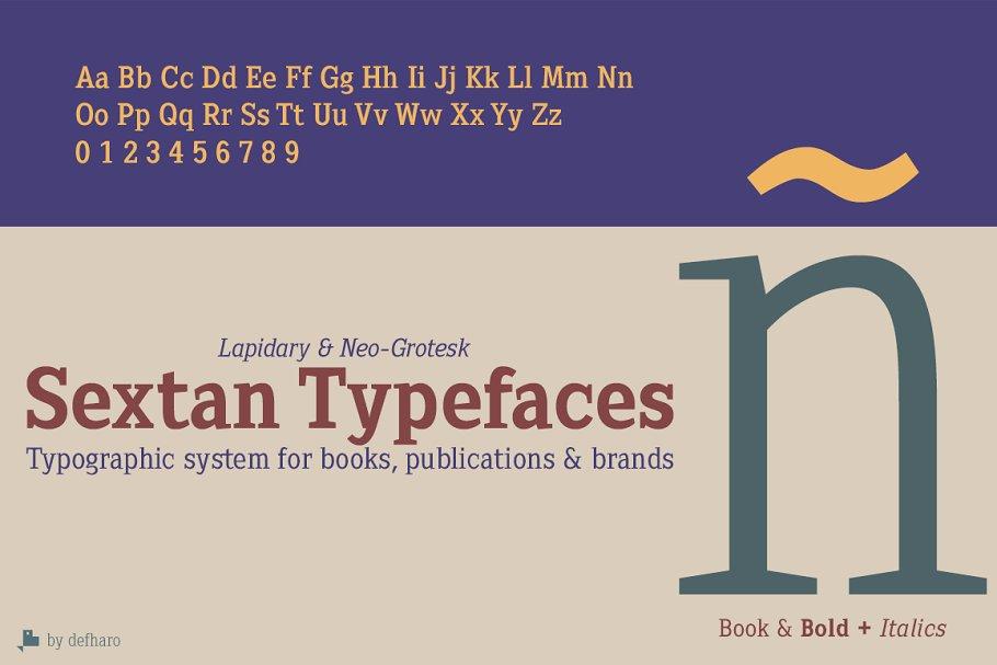 Sextan Serif -4 Fonts-