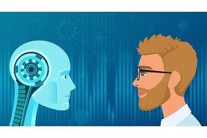 Human vs Robot opposition