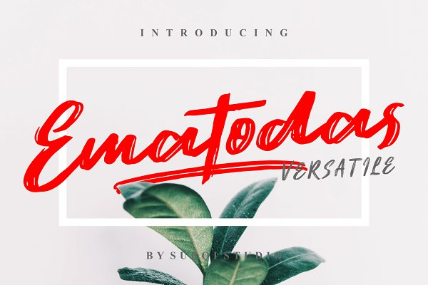 Fonts: Subqi Std - Ematodas - 40% OFF