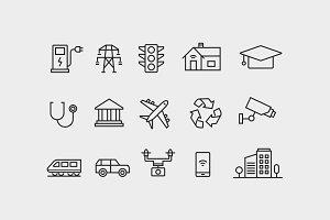 15 Smart City Icons