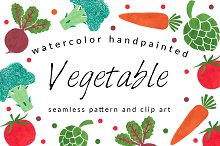 Vegetable Pattern and Clip Art Pack
