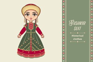 The girl in Bashkir dress