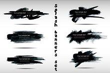 6 Splash banners set