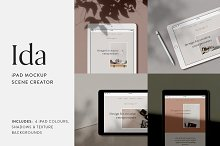 Ida - iPad Mockup Scene Creator by  in Product Mockups