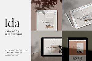 Ida - iPad Mockup Scene Creator